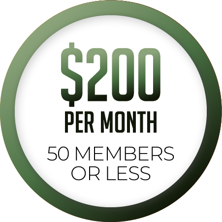 50 members or less $200/month